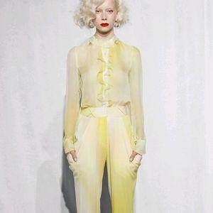 Joy Cioci Brit Blouse In Silk Chiffon